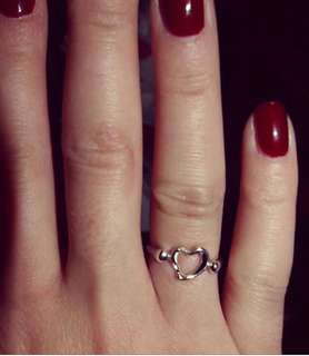 Authentic Tiffany &Co. Elsa Peretti Open Heart Ring