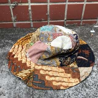 日本帶回 雙面戴 古著拼接 漁夫帽