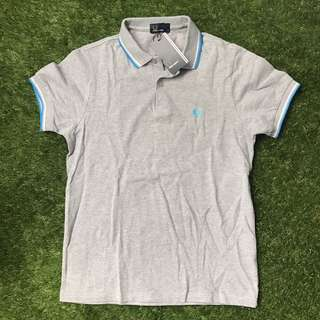 Fred Perry Gray Polo Shirt Medium