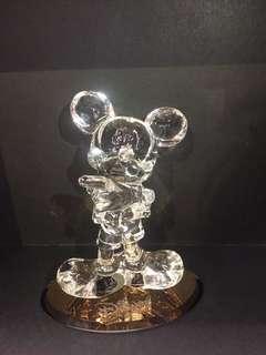 正版迪士尼米奇老鼠水晶擺設