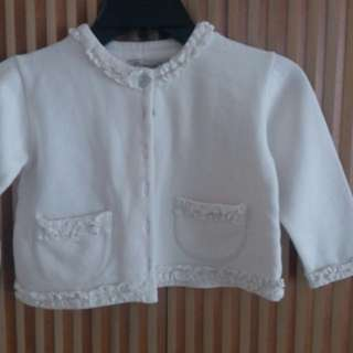 Chateau de Sables White Cardigan for 6Y Old Girl