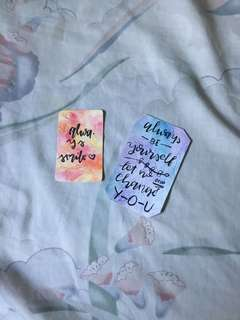 Customisable Watercolor Bookmarks