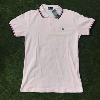 Fred Perry Baby Pink Polo Shirt Large