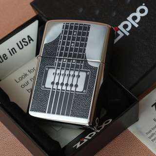 美國 Zippo 打火機24486 Electric Guitar Polished Chrome❤️新春抽獎禮物