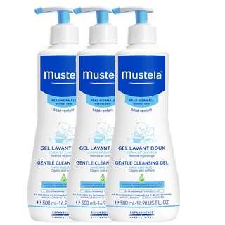 Mustela - 髮膚沐浴啫喱 (不含皂性) 500ml (法國版) x 3 枝