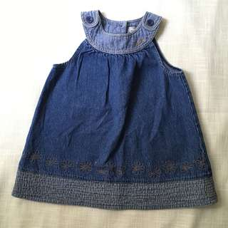 Charity Sale! Authentic Roots Canada Denim Dress Girl's Size 18-24 Months Jean Dress