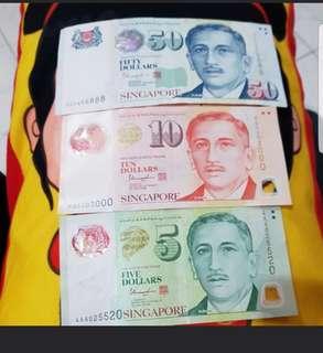Fancy singapore notes