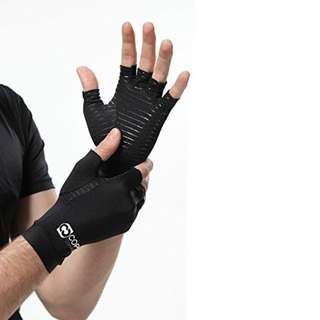 Copper Compression Arthritis Gloves - GUARANTEED Highest Copper Content. #1 Best Copper Infused Fit Glove For Carpal Tunnel, Computer Typing, And Everyday Support For Hands & Joints (1 PAIR XL)