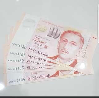 Fancy unc $10 notes