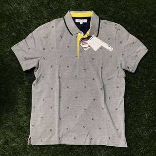 U2 Lab Gray/Yellow Polo Shirt Medium