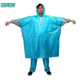 Jas hujan poncho + setelan celana jerez type ralen star