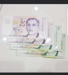 Fancy numbers for singapore notes