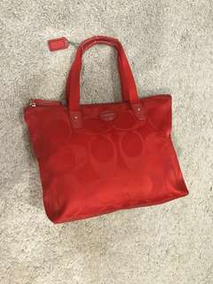 💯 Authentic COACH Red logo bag