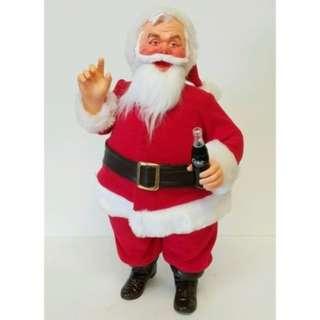 """1984年 COCA COLA 可口可樂 16"""" 聖誕老人 公仔"""