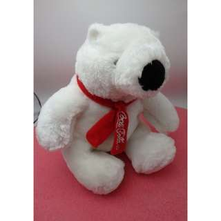 Coca-Cola 可口可樂 ~ Sitting Plush Bear with Scarf 7""