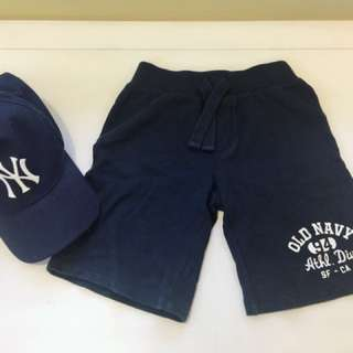 Old navy 小男童運動短褲 鬆緊好穿脫 5T 購於美國🇺🇸