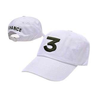 現貨📣 「歐美爆熱款」嘻哈潮流CHANCE THE RAPPER電繡棒球帽休閒帽(SWAG史瓦客)白色系列