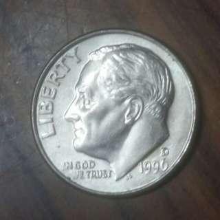 1996年十美分硬幣