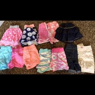 Sepaket rok,shorts (girls 3T)