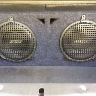10 inch X 2 pecs Kenon Subwoofers with Box and American Sound 1 pair wire cable for sell