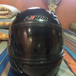 Zebra full face motorcycle helmet