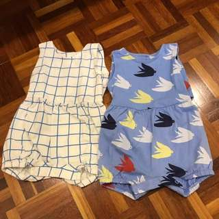 2pcs M&S baby romper 0-3mths