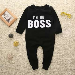Baby Rompers I m the boss