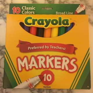 NEW Crayola Markers pack of 10 Classic Colors