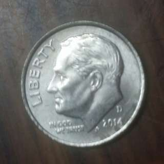 2014年十美分硬幣
