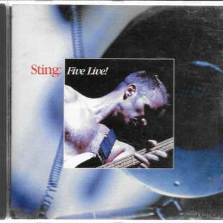 MY PRELOVED CD - STING - FIVE LIVE !! - /FREE DELIVERY (F3C))