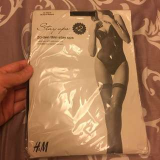 NEW 2 Pairs of Stay Up Stockings