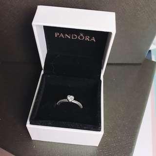 Pandora小心心戒指