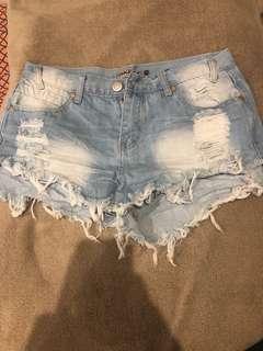 Size 10 denim shorts
