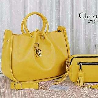 Christian Dior Handbag Set Premium (Yellow)
