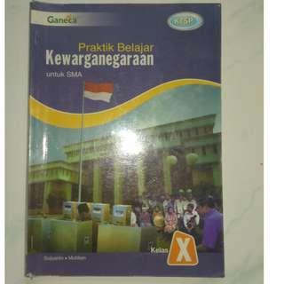 buku pelajaran PKN praktik belajar kewarganegaraan SMA 1