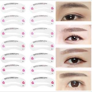 24pcs eyebrown template guide kit