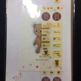 小熊 bear 信紙/ 信封 / 貼紙