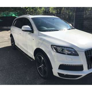 Kereta Sewa/Car Rental Audi Q7 White