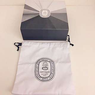 Diptyque box, dustbag and paper bag