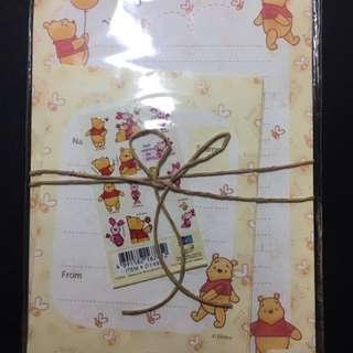 Disney . Winnie the Pooh 小熊維尼 信紙/ 信封
