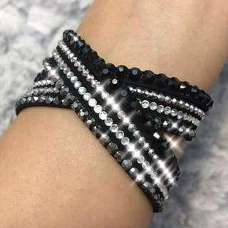 Swarovski Inspired Studded Crystal Bracelet / Choker / Necklace