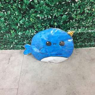 Narwhale paper squishie