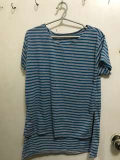 Stripe blue and grey t-shirt