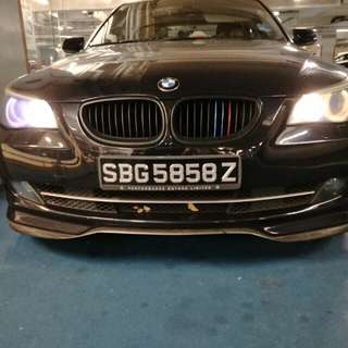 BMW E60 front bumper lip, rims and rear spoiler for sales