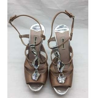 Miu Miu open toe Heels - Miu Miu 高跟涼鞋