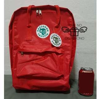 Raccoonn Tanukin Backpack - Basic Style (Red)