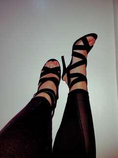 Parisian Super Sexy Strappy Heels (Size 6) (Pre-Loved)