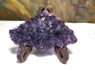 Raw Amethyst cluster from Uruguay [Natural Crystal]