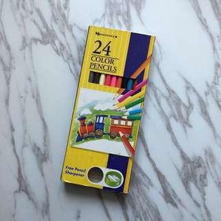 24色木顏色筆 24 Color Pencils