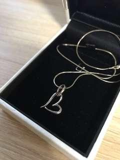 925 silver heart shape necklace pendant